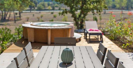 le jardin des senteurs vue terrasse